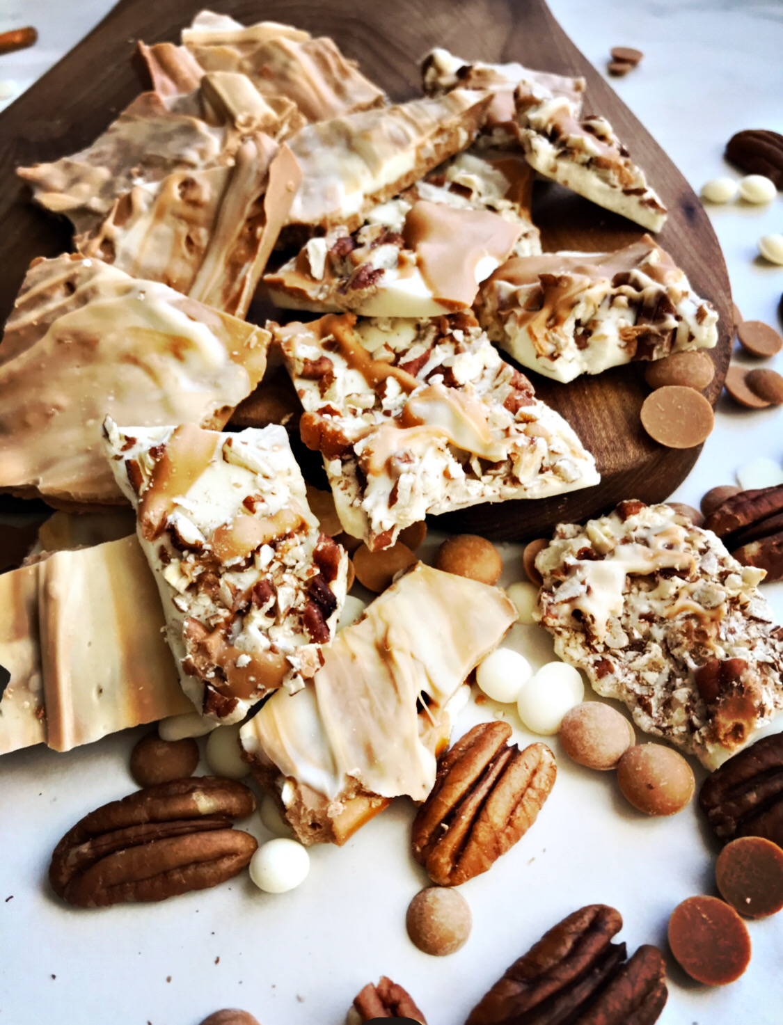 Salted Caramel Bark and White Chocolate Bark