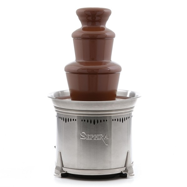 Small commercial chocolate fondue fountain