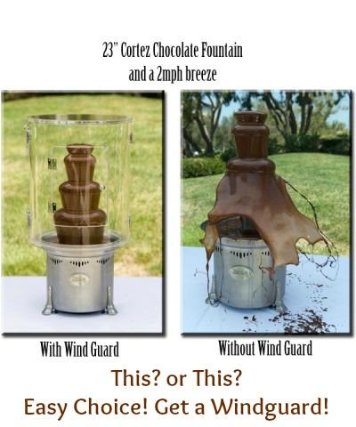 Chocolate Fountain Wind Guard