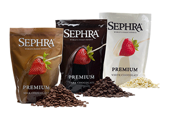 Sephra Premium Chocolate Chips and Fondue Chocolate