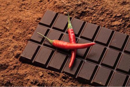 Dark chocolate and chilli